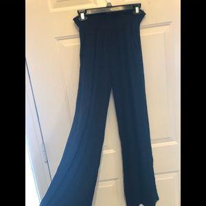 Black boho pants